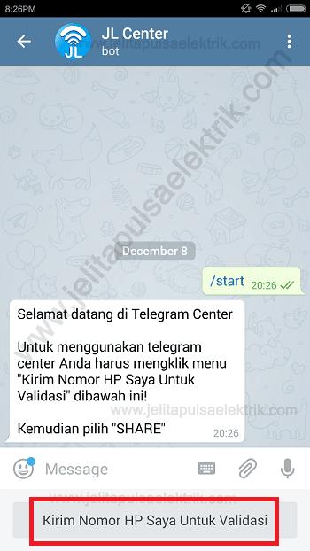 cara trx via telegram 2