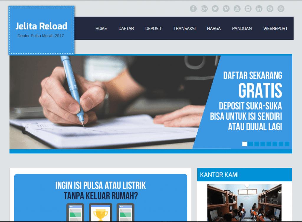 tampilan web promosi jelita reload